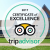 We have received the TripAdvisor Certificate of Excellence!