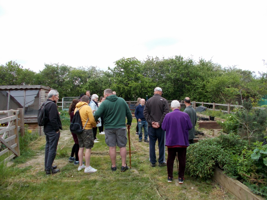 Visitors learn about the tree nursery at Thames Chase