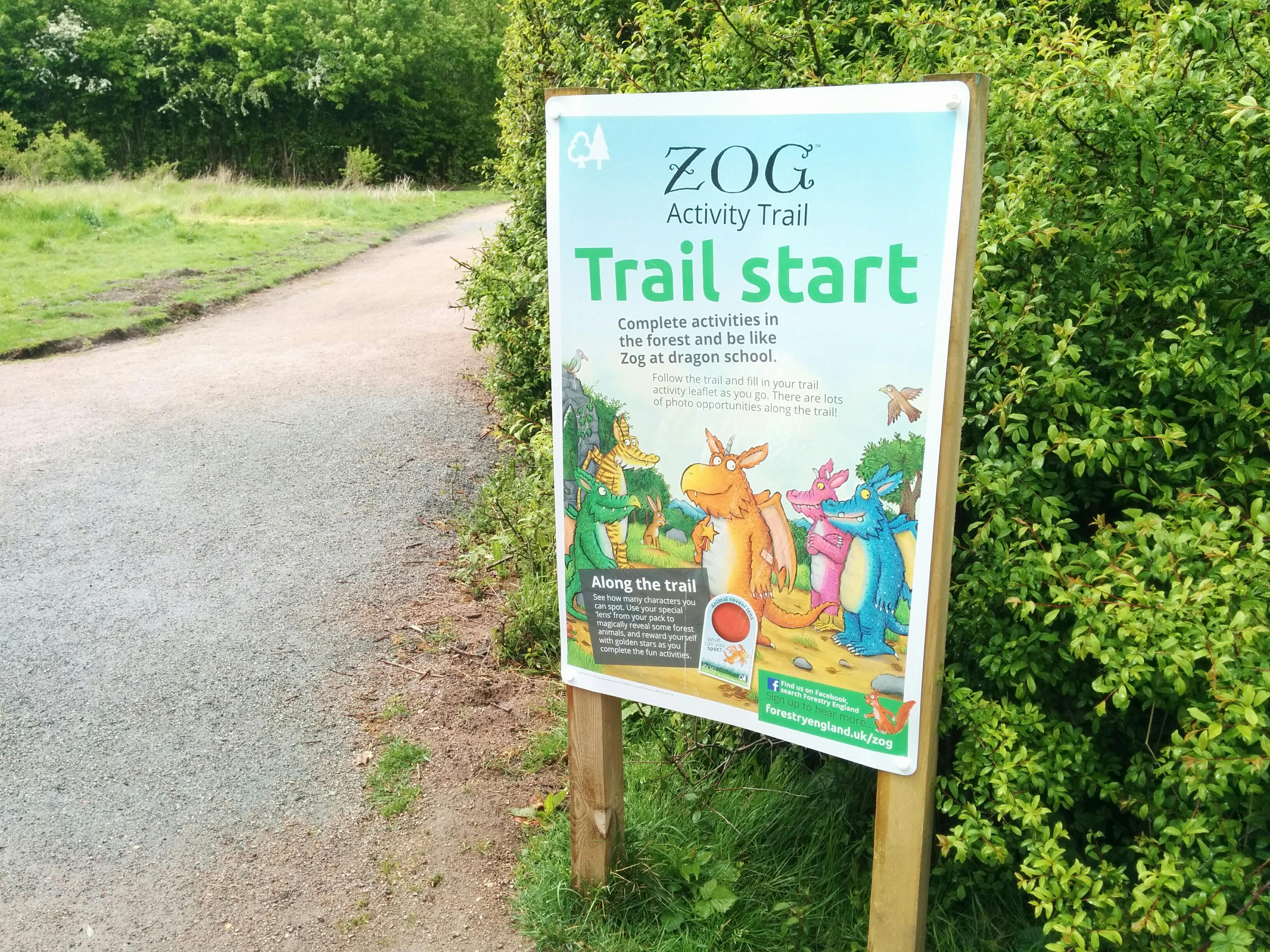 Start of Zog trail at Thames Chase