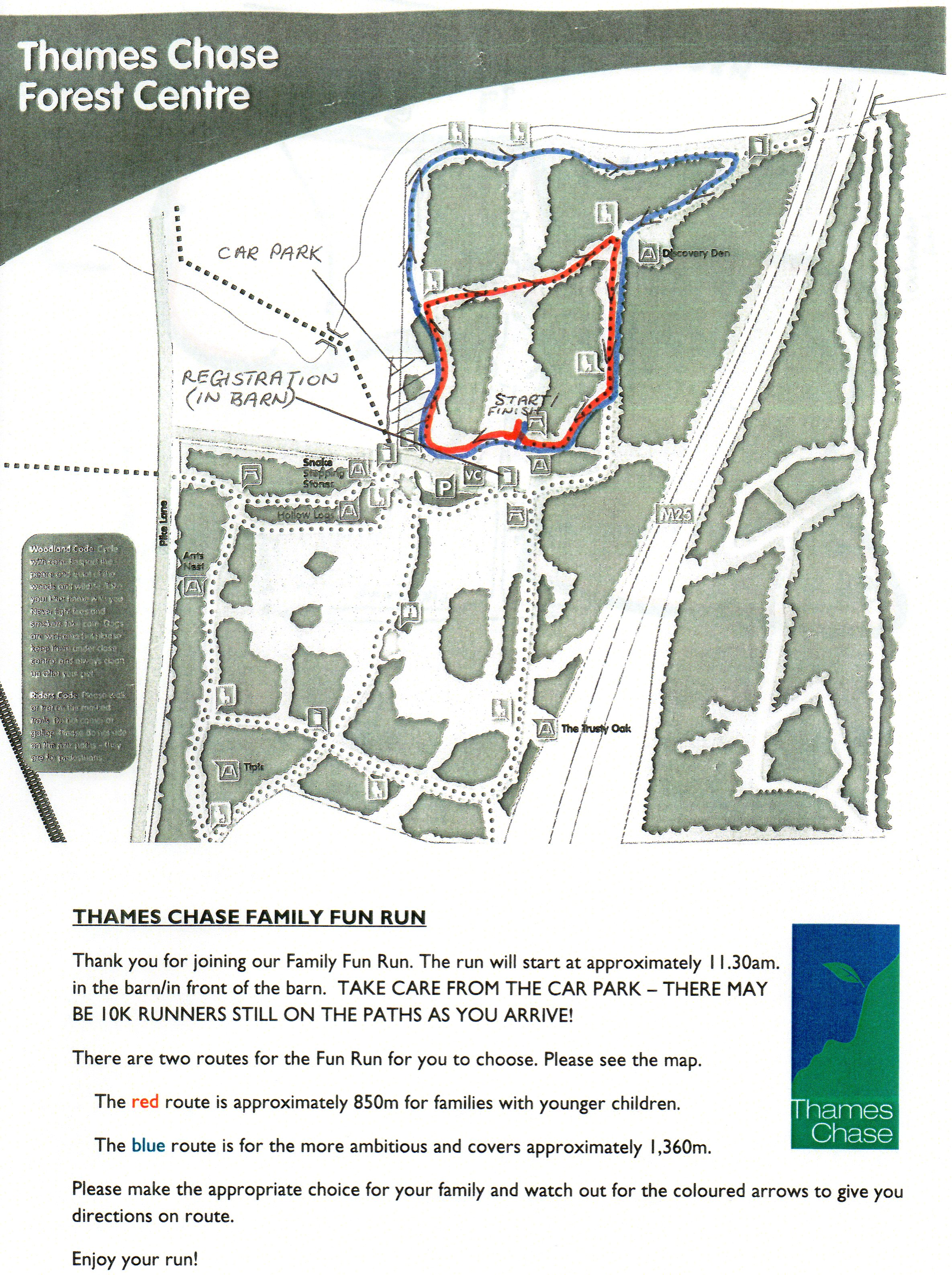 Thames Chase Community Forests annual 10K and Family fun run